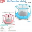 Happy Play – Mini Trampoline with Net WM 19038