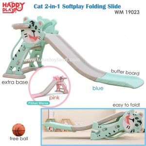 Happy Play - WM 19023 Cat Softplay Folding Silde with Base