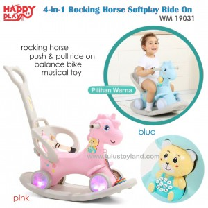 Happy Play –  4 in 1 Rocking Horse Softplay Ride On WM 19031