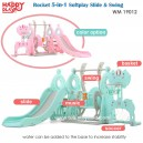Happy Play – Rocket 5 in 1 Soft Play Silde & Swing WM 19012