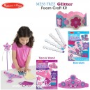 Melissa & Doug - Mess Free Glitter Foam Craft Kit
