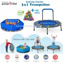 SmarTrike – Foldable Activity Center 3 in 1 Trampoline