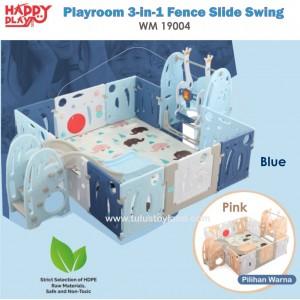 Happy Play – Playroom 3-in-1 Fence Slide Swing WM 19004
