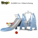 Bingo – CLOWN 3 in 1 Slide & Swing Basketball