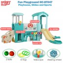 Happy Play – Fun Playground House Slide Sport HC-HT047
