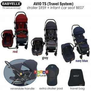 Babyelle – Avio TS Travel System Stroller S959 & Car Seat BE07