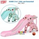 Happy Play – Bambi 2 in 1 Slide and Basketball WM 19021