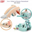 Happy Play – 3 in 1 Slide to Rocker and Basketball WM 19029