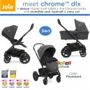 Joie - Meet 3 in 1 Chrome Dlx Deluxe with Carry Cot