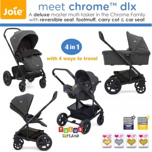 Joie - Meet 4 in 1 Chrome Dlx with Carry Cot & Gemm Car Seat