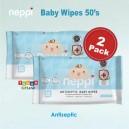 Neppi - Antiseptic Baby Wipes 50s (2 Pack)