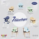 Pliko - VELO DX 7 in 1 Baby Booster High Chair HC 566