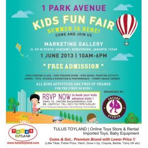 Kids Fun Fair 1st Avenue Gandaria