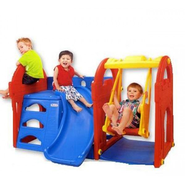 fisher price castle slide and swing 1