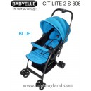 Baby Elle - CitiLite 2 Stroller S606 New Model Biru