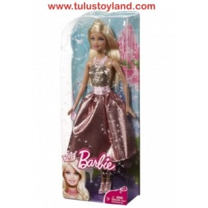 Barbie - Modern Princess Dazzling in Gold and Pink Dress