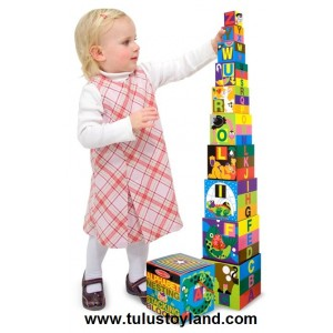 Melissa & Doug - Alphabet Nesting and Stacking Blocks