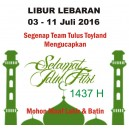 Libur Lebaran 2016