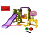 L'abeille – Panda Slide & Swing Sport Center in Green ZK-017