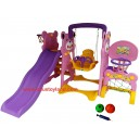 L'abeille – Panda Slide & Swing Sport Center Pink ZK-017