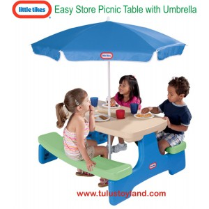 Little Tikes - Easy Store Picnic Table with Umbrella