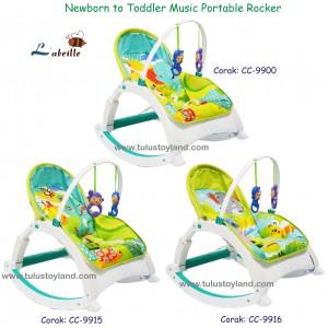 L'abeille – Newborn to Toddler Music Portable Rocker