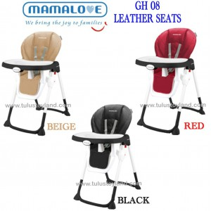Mamalove High Chair Gh08 Leather Seat Premium Baby High Chair