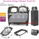 Joie - Excursion Change and Bounce Travel Cot Abstract Arrows
