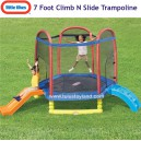 Little Tikes - 7 Ft Climb N Slide Trampoline
