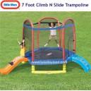 Little Tikes - 7 Ft Climb N Slide Trampoline