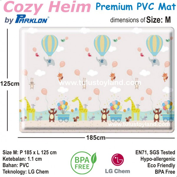 Cozy Heim Premium Pvc Playmat By Parklon Karpet Bayi