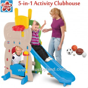 Grow N Up – 5 in 1 Activity Clubhouse Slide