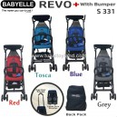Babyelle – New Revo Stroller with Bumper S331