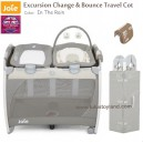 Joie - Excursion Change and Bounce Travel Cot in The Rain