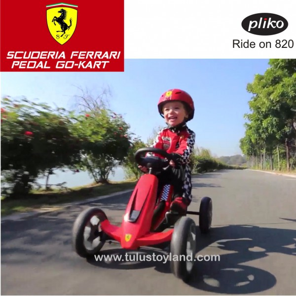 Pliko Scuderia Ferrari Pedal Go Kart Ride On Toys Pk 820