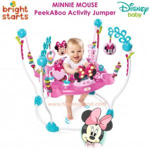 3543bee03 Bright Starts Minnie Mouse PeekABoo Activity Jumper