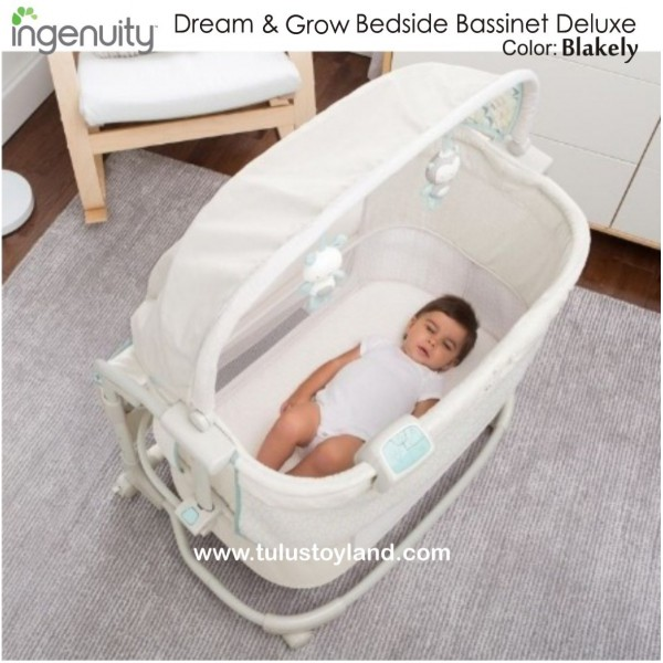 Ingenuity Dream & Grow Bedside Bassinet Deluxe | Box Bayi