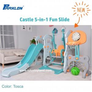 Parklon – Castle 5-in-1 Fun Slide and Swing