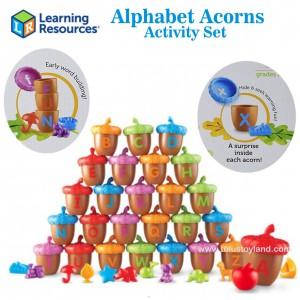 Learning Resources - Alphabet Acorns Activity Set
