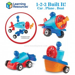 Learning Resources - 1 2 3 Build It! Car, Plane, Boat