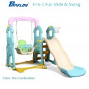 Parklon – 3 in 1 Fun Slide and Swing Mix Color