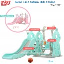 Happy Play – WM 19011 Rocket 4 in 1 Soft Play Silde & Swing