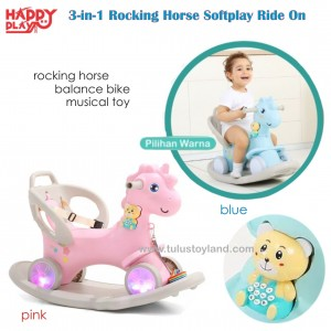 Happy Play –  3 in 1 Rocking Horse Softplay Ride On WM 19030