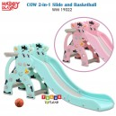 Happy Play – Cow 2 in 1 Slide and Basketball WM 19022