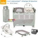 Joie - Excursion Change and Bounce Travel Cot Wild Island