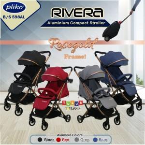 Pliko – RIVERA 598AL Rose Gold Frame Stroller