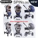Babyelle Stroller Spin S360 NEW Fabric