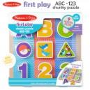 Melissa & Doug - First Play ABC-123 Chunky Puzzle
